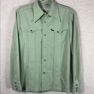 VINTAGE suit-men's small polyester mint green suit